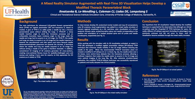 A Mixed Reality Simulator Augmented with Real-Time 3D Visualization Helps Develop a Modified Thoracic Paravertebral Block