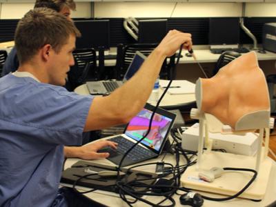 Resident training on the CVA sim